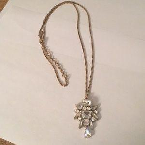 Long J crew rhinestone necklace